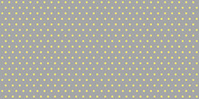 Polka Dot Yellow Gray Seamless Pattern. Abstract Vector Geometric Background. Trendy Minimal Ornament For Wrapping Paper, Wallpaper, Fabric Print