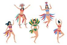 Set Of Carnival Dancers