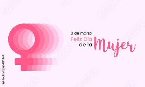 Obraz na plátně día internacional de la mujer 8 de marzo español