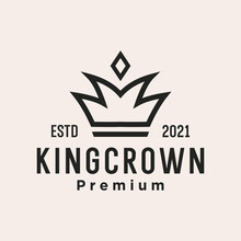 Crown Logo. Queen King Princess Crown Royal Elegant Logo Design