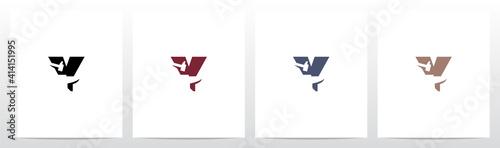 Photographie Anvil And Hammer On Letter Logo Design Y