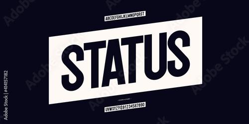 Vector status font modern typography for infographics, motion graphics, video, promotion, decoration, logotype Fototapeta
