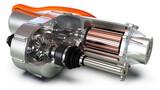Fototapeta Sport - Elektromotor eines modernen Autos, Schnittansicht, Nahaufnahme, Detail