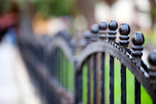 Abstract Architecture Design Of Iron Fences