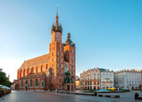 St. Marys Church on the main historical square of the city of Krakow