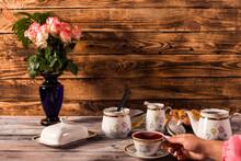 Tea Composition, Tea Set, Picture Style Vintage