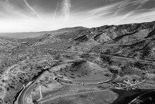 Aerial View Of The Tehachapi Loop In Keene California