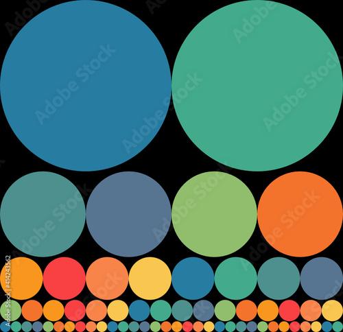 Obraz na plátně Esferas menguantes