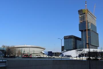 Katowice centrum miasta zimą