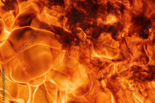 Fotografie, Tablou Flames red fire natural background