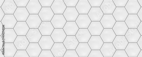 Photographie White hexagon ceramic tiles