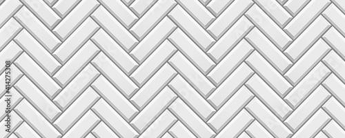 Fotografie, Tablou Vertical White colored brick ceramic tiles