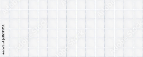 Fotomural White rustic ceramic tiles