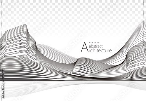Fotografie, Obraz Architecture building construction perspective design, abstract modern urban landscape background