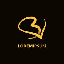 Luxury Initials BV Logo Feminine