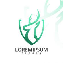 Green Deer Logo Design