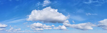 Large White Cloud In Blue Sky