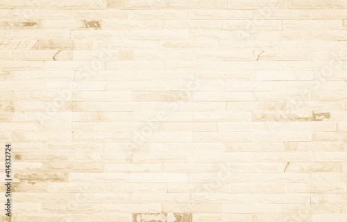 Canvas Print Empty background of wide cream brick wall texture