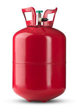 Helium Tank. Metal Liquefied Compressed Helium Gas Container For Filling Or Inflating Balloons Good For Birthday And Other Holidays. Compact Helium Tank.