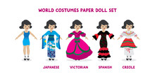 World Costumes Paper Doll Set