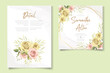 Modern floral wedding card concept