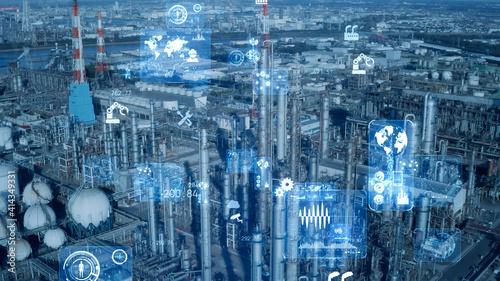 Obraz na plátně 産業とテクノロジー