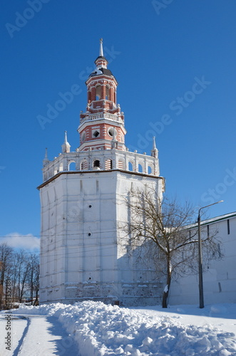 The Duck (Granary) Tower of the Holy Trinity Sergius Lavra. Sergiev Posad, Moscow region. The Golden Ring of Russia © koromelena