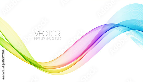 Fototapeta Abstract shiny color spectrum wave design element obraz
