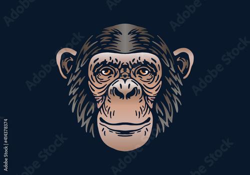 Canvastavla chimpanzee