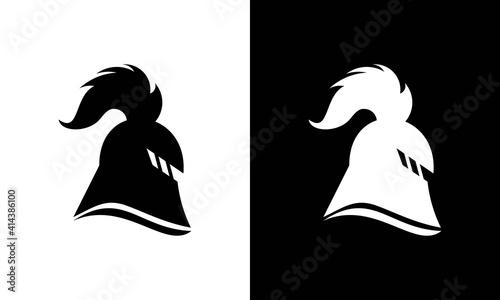 Fototapeta Spartan logo design template ,Helmet logo design concept ,Vector illustration