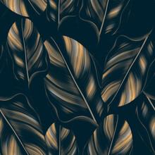 Seamles Leaves Pattern In Elegant Style