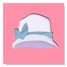 Women's Children's Hat. Summer Hat For Girls. The Era Of Art Nouveau Costume