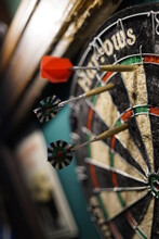 Darts In A Target