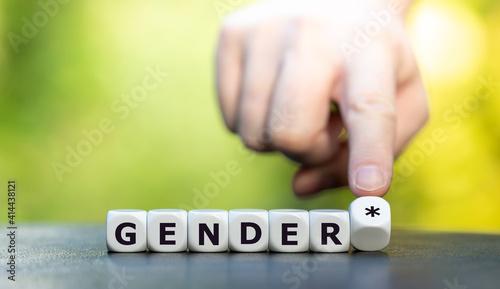 Fotografie, Obraz Symbol für eine gendergerechte Sprache