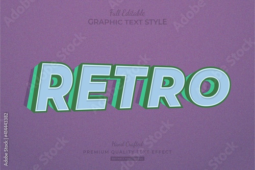 Fototapeta Retro Old Vintage 3D Editable Text Effect Font Style obraz na płótnie
