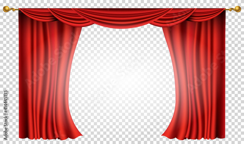 Fototapeta Red curtains realistic