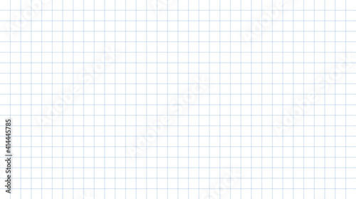 Fotografiet Dashed line grid paper with white pattern background