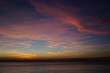 Manila Bay Sunset With Pink Skies