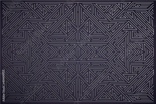 Vector abstract silver background. Art deco wedding, party pattern, geometric ornament