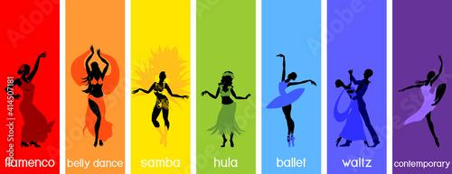 Fotografie, Obraz Various style dancing