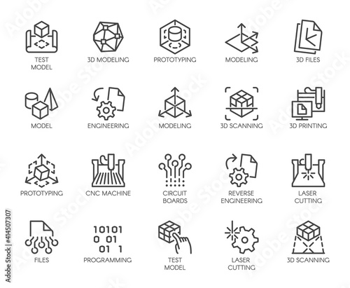 Fotografía Premium Icons Pack on Engineering, Product Development and Creation