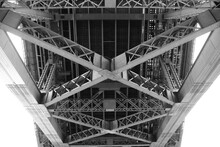 A Truss Bridge's Steel Girders