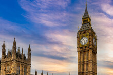Details Of Houses Of Parliament And Big Ben, In London, England, United Kingdom