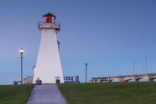 Canada, Prince Edward Island, Borden. Port Borden Back Range Lighthouse.