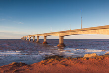 Canada, Prince Edward Island, Borden. Confederation Bridge, On The Northumberland Straight.
