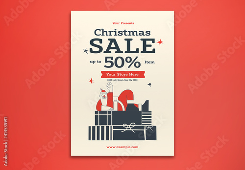 Fototapeta Christmas Sale Flyer Layout obraz