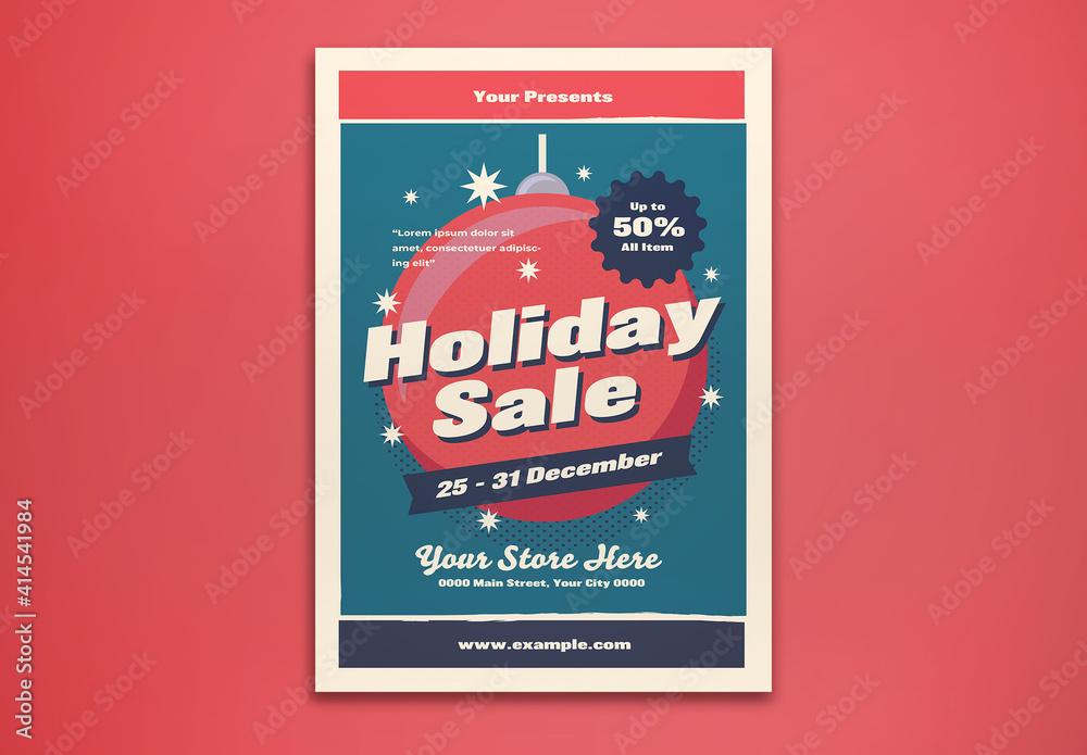 Fototapeta Holiday Sale Flyer Layout