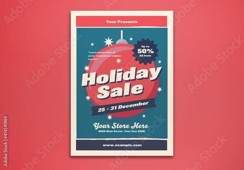 Fototapeta Holiday Sale Flyer Layout obraz