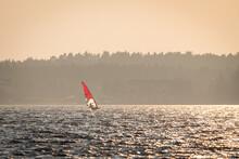 Windsurfers On The Zegrze Reservoir