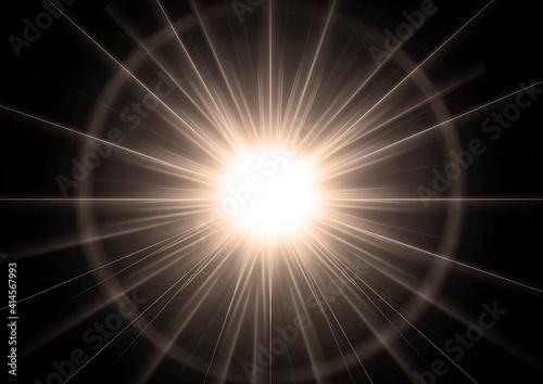 Obraz 光輝く抽象的な星 - fototapety do salonu